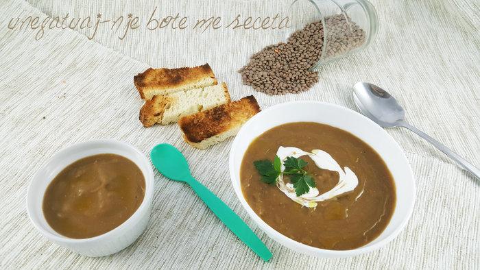 Supë krem me thjerrëza