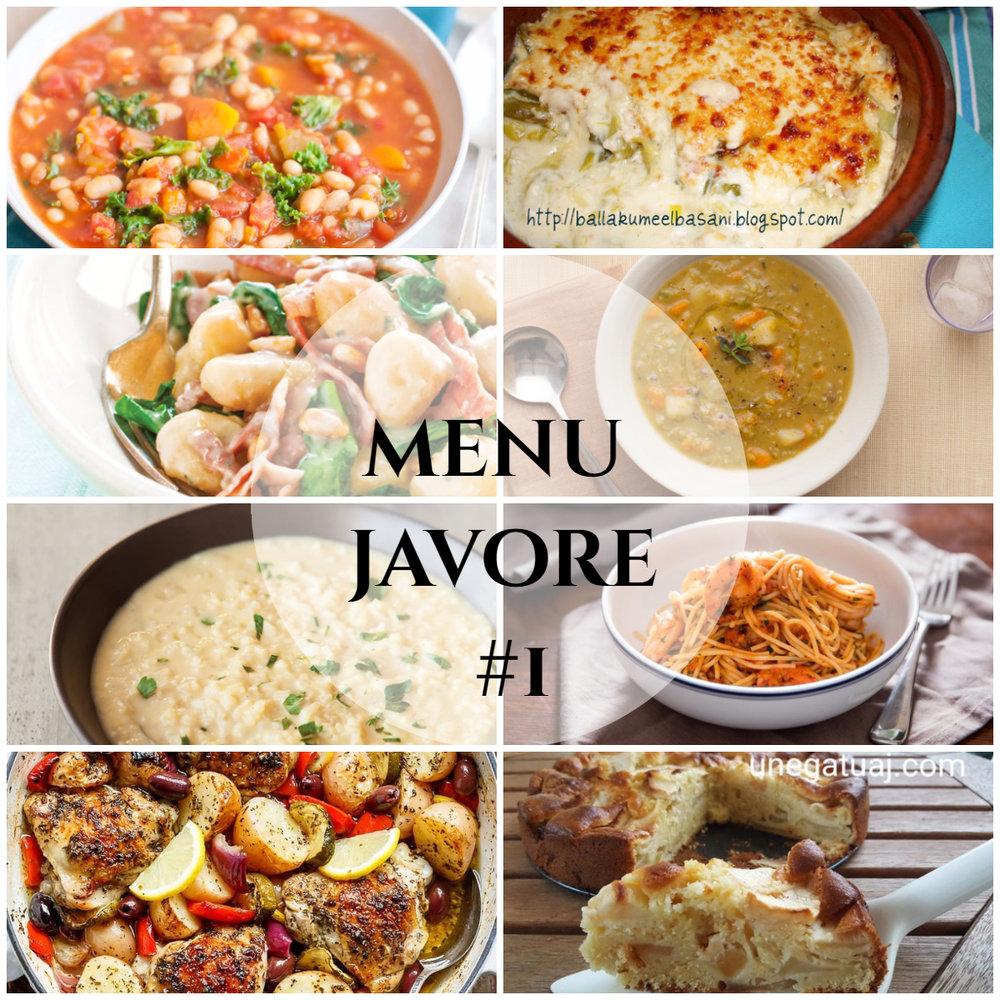 menu javore #1